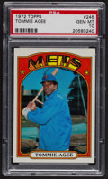Baseball Cards:Singles (1970-Now), 1972 Topps Tommie Agee #245 PSA Gem MT 10 - Pop Five. ...