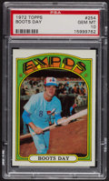 Baseball Cards:Singles (1970-Now), 1972 Topps Boots Day #254 PSA Gem MT 10. ...