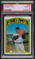 Baseball Cards:Singles (1970-Now), 1972 Topps Sparky Lyle #259 PSA Gem MT 10. ...