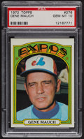 Baseball Cards:Singles (1970-Now), 1972 Topps Gene Mauch #276 PSA Gem MT 10. ...