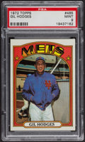 Baseball Cards:Singles (1970-Now), 1972 Topps Gil Hodges #465 PSA Mint 9 - Only Two Higher. ...