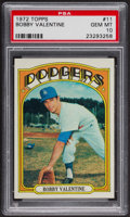 Baseball Cards:Singles (1970-Now), 1972 Topps Bobby Valentine #11 PSA Gem MT 10 - Pop Five. ...