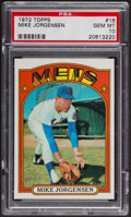 Baseball Cards:Singles (1970-Now), 1972 Topps Mike Jorgenson #16 PSA Gem MT 10 - Pop Three. ...