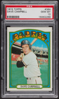 Baseball Cards:Singles (1970-Now), 1972 Topps Dave Campbell #384 PSA Gem MT 10. ...