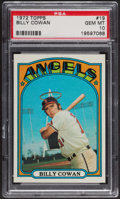 Baseball Cards:Singles (1970-Now), 1972 Topps Billy Cowan #19 PSA Gem MT 10. ...