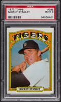 Baseball Cards:Singles (1970-Now), 1972 Topps Mickey Stanley #385 PSA Mint 9 - Only One Higher. ...