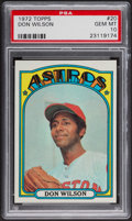 Baseball Cards:Singles (1970-Now), 1972 Topps Don Wilson #20 PSA Gem MT 10. ...