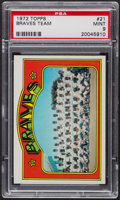 Baseball Cards:Singles (1970-Now), 1972 Topps Braves Team #21 PSA Mint 9 - Only Four Higher. ...