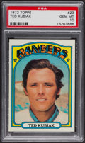 Baseball Cards:Singles (1970-Now), 1972 Topps Ted Kubiak #23 PSA Gem MT 10. ...