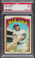 Baseball Cards:Singles (1970-Now), 1972 Topps Ted Ford #24 PSA Mint 9 - Only Two Higher. ...