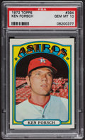 Baseball Cards:Singles (1970-Now), 1972 Topps Ken Forsch #394 PSA Gem MT 10. ...