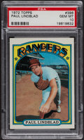 Baseball Cards:Singles (1970-Now), 1972 Topps Paul Lindblad #396 PSA Gem MT 10 - Pop Three. ...