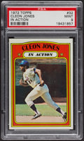 Baseball Cards:Singles (1970-Now), 1972 Topps Cleon Jones In Action #32 PSA Mint 9 - Only Two Higher. ...