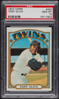 Baseball Cards:Singles (1970-Now), 1972 Topps Tony Oliva #400 PSA Gem MT 10. ...