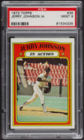 Baseball Cards:Singles (1970-Now), 1972 Topps Jerry Johnson In Action #36 PSA Mint 9 - None Higher....