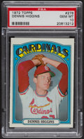 Baseball Cards:Singles (1970-Now), 1972 Topps Dennis Higgins #278 PSA Gem MT 10. ...