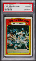 Baseball Cards:Singles (1970-Now), 1972 Topps Carl Yastrzemski In Action #38 PSA Gem MT 10. ...