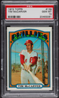 Baseball Cards:Singles (1970-Now), 1972 Topps Tim McCarver #139 PSA Gem MT 10. ...