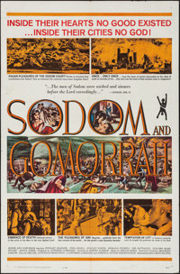 "Sodom and Gomorrah & Others Lot (20th Century Fox, 1963). One Sheets (3) (27"" X 41""), Lobby Card Set o..."