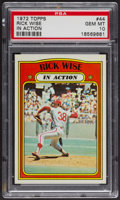 Baseball Cards:Singles (1970-Now), 1972 Topps Rick Wise In Action #44 PSA Gem MT 10. ...