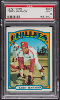 Baseball Cards:Singles (1970-Now), 1972 Topps Terry Harmon #377 PSA Mint 9 - None Higher. ...