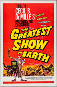 """The Greatest Show on Earth (Paramount, R-1967). One Sheet (27"""" X 41""""). Drama"""