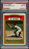 Baseball Cards:Singles (1970-Now), 1972 Topps Ed Kranepool In Action #182 PSA Mint 9....