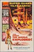 "Movie Posters:Science Fiction, The Night the World Exploded! (Columbia, 1957). One Sheet (27"" X41""). Science Fiction.. ..."
