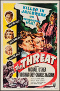 "Movie Posters:Crime, The Threat (RKO, 1949). One Sheet (27"" X 41""). Crime.. ..."
