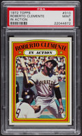Baseball Cards:Singles (1970-Now), 1972 Topps Roberto Clemente In Action #310 PSA Mint 9....