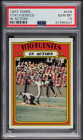Baseball Cards:Singles (1970-Now), 1972 Topps Tito Fuentes In Action #428 PSA Mint 9....