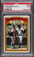 Baseball Cards:Singles (1970-Now), 1972 Topps Thurman Munson In Action #442 PSA Mint 9. ...