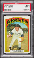 Baseball Cards:Singles (1970-Now), 1972 Topps Phil Niekro #620 PSA Mint 9 - Only One Higher....