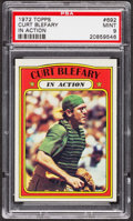 Baseball Cards:Singles (1970-Now), 1972 Topps Curt Blefary In Action #692 PSA Mint 9 - Only OneHigher....