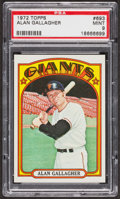 Baseball Cards:Singles (1970-Now), 1972 Topps Alan Gallagher #693 PSA Mint 9 - Only Two Higher. ...