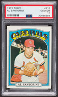 Baseball Cards:Singles (1970-Now), 1972 Topps Al Santorini #723 PSA Gem MT 10 - Pop Two. ...