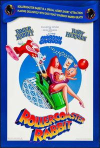 "Rollercoaster Rabbit & Other Lot (Buena Vista, 1990). One Sheets (2) (27"" X 40, 27"" X 41"") DS. An..."