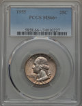 Washington Quarters, 1955 25C MS66+ PCGS. PCGS Population: (882/40 and 19/2+). NGCCensus: (1152/139 and 1/0+). CDN: $45 Whsle. Bid for problem-...