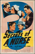 "Movie Posters:Crime, Secrets of a Nurse (Universal, 1938). One Sheet (27"" X 41"").Crime.. ..."