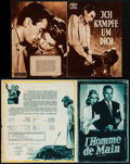 """Movie Posters:Hitchcock, Spellbound & Others Lot (Schorcht Filmverleih, 1952). First Post-War Release German Program (4 Pages, 8"""" X 11""""), French Prog... (Total: 4 Items)"""