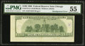 Error Notes:Miscellaneous Errors, Misaligned Back Printing Error Fr. 2175-G $100 1996 Federal Reserve Note. PMG About Uncirculated 55.. ...