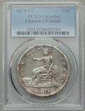 Trade Dollars: , 1874-CC T$1 -- Cleaning -- PCGS Genuine. VF Details. NGC Census: (2/233). PCGS Population: (3/379). CDN: $400 Whsle. Bid fo...