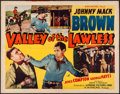 """Movie Posters:Western, Valley of the Lawless & Other Lot (Supreme, 1936). Half Sheet(22"""" X 28"""") & One Sheet (27"""" X 41""""). Western.. ... (Total: 2Items)"""