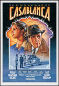 "Movie Posters:Academy Award Winners, Casablanca (Warner Brothers, R-1992). 50th Anniversary One Sheet(27"" X 39.75"") & Video Poster (27"" X 40"") SS. Academy Award...(Total: 2 Items)"