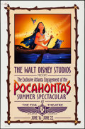 "Movie Posters:Animation, Pocahontas Atlanta Engagement at the Fox Theater (Buena Vista, 1995). One Sheet (27"" X 41"") SS Advance. Animation.. ..."