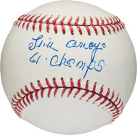 "2000's Luis Arroyo ""61 Champs"" Single Signed Baseball"
