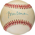 Baseball Collectibles:Balls, 1992 President Bill Clinton Single Signed Baseball from The Stan Musial Collection....