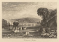 Fine Art - Work on Paper:Print, After Joseph Mallord William Turner by J. Huson. RichmondBridge, c. 1898. Engraving on paper. 4-7/8 x 7 inches (12....