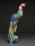 Asian:Chinese, A Chinese Export-Style Porcelain Pheasant. 25-1/8 inches high (63.8cm). ...