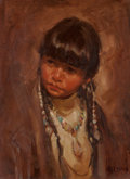 Fine Art - Painting, American, Harley Brown (American, b. 1939). Maia, 1979. Oil on canvas.16 x 12 inches (40.6 x 30.5 cm). Signed lower right: Harl...